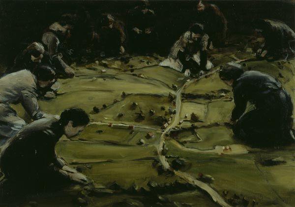 Michael Borremans, Trickland, 2002, 38 x 55 cm, oil on canvas