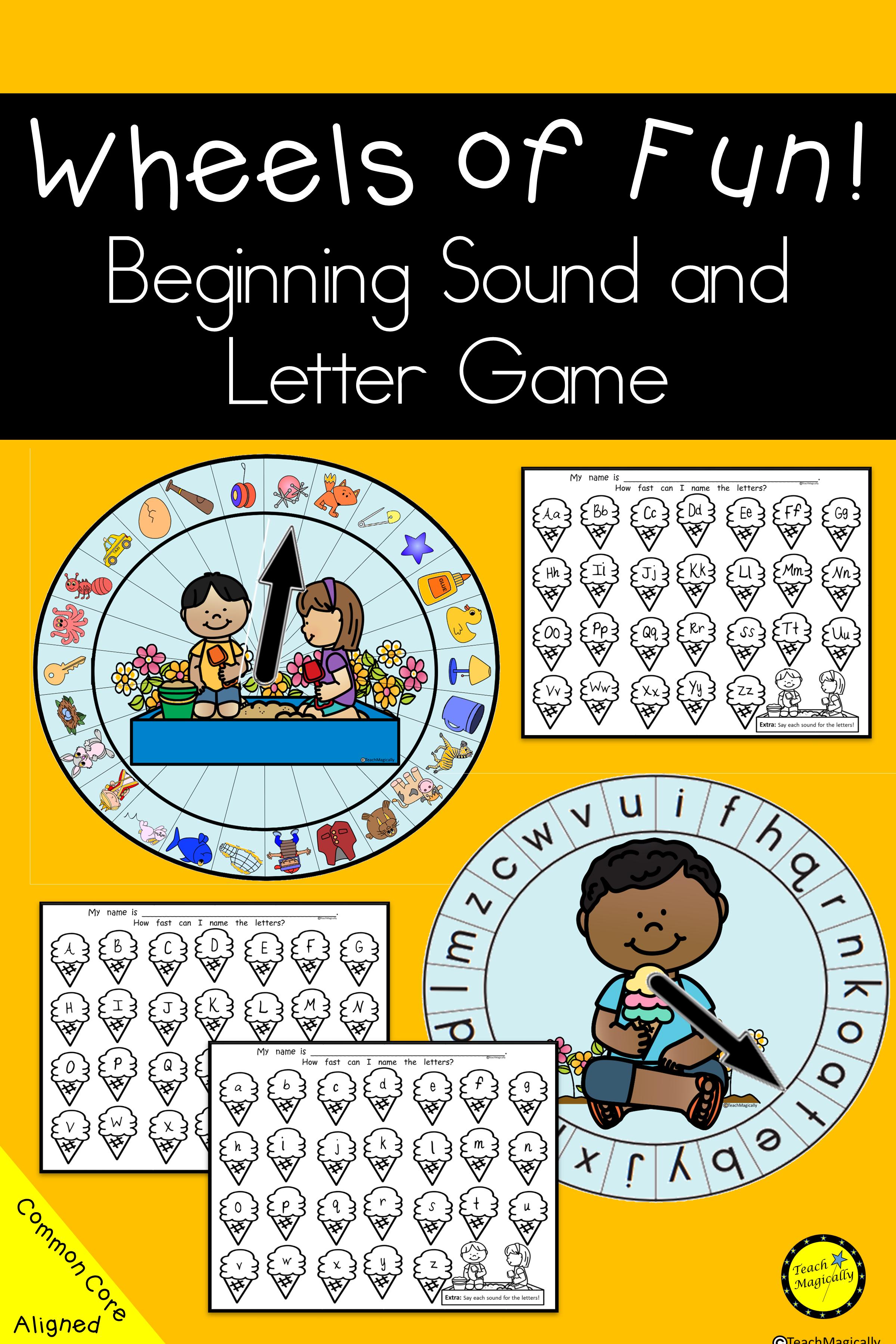 Beginning Sounds And Letter Recognition Worksheet Game To Help Preschool Prek Kindergarten Literacy Centers Games Letter Recognition Worksheets Letter Sounds [ 3600 x 2400 Pixel ]