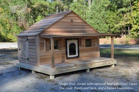 Large Duplex Single Door Dog House Custom Cedar Dog House Outdoor Dog House Custom Dog Houses Luxury Dog House