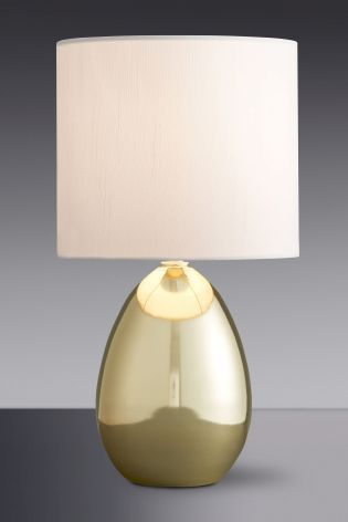 Buy droplet brass finish touch lamp from the next uk online shop