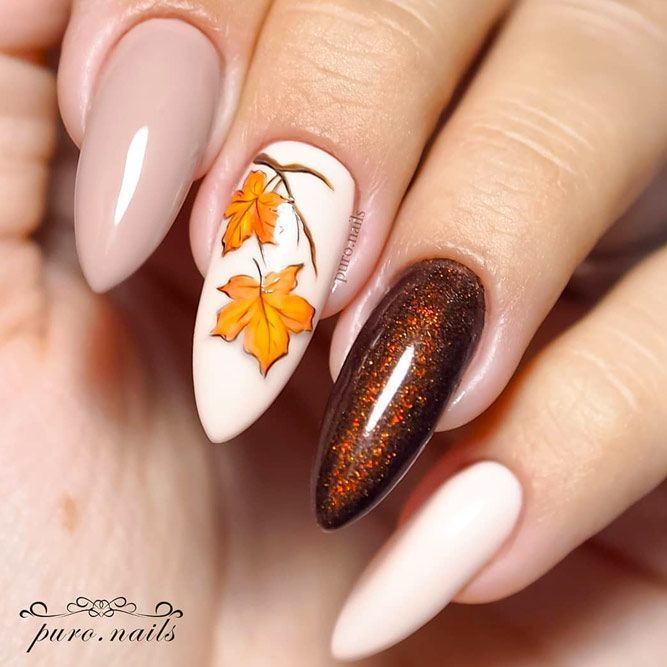 30 Trendy Manicure Ideas In Fall Nail Colors 2019 Inspired-#2019