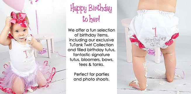 Birthday Diaper Covers by TutuGirl.com