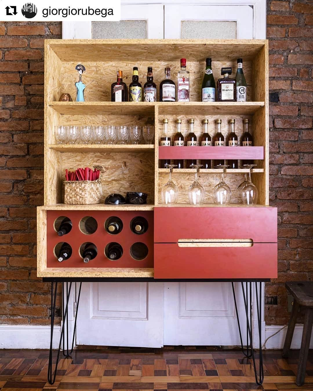 Sterlingosb Zero On Instagram Thought We D Share This Great Osb Bar After All It Is Winewednesday Repost Giorgior Osb Osb Furniture Bar Design