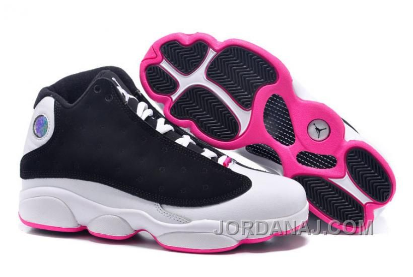 """Girls Air Jordan 13 Retro GS """"Hyper Pink"""" Black/Hyper Pink-White For Sale  from Reliable Big Discount ! Girls Air Jordan 13 Retro GS """"Hyper Pink"""" Black/Hyper  ..."""