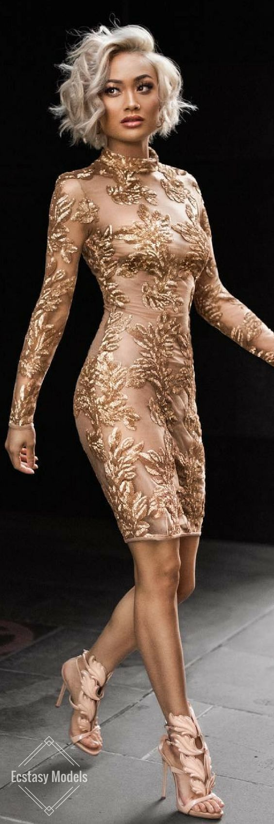 Golden Glam // Dress by houseofcb // Fashion Look by Micah Gianneli