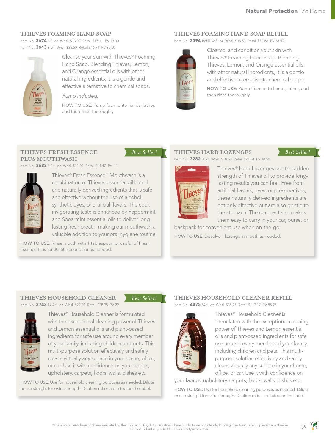 Young Living USA Product Guide | Young Living | Young living