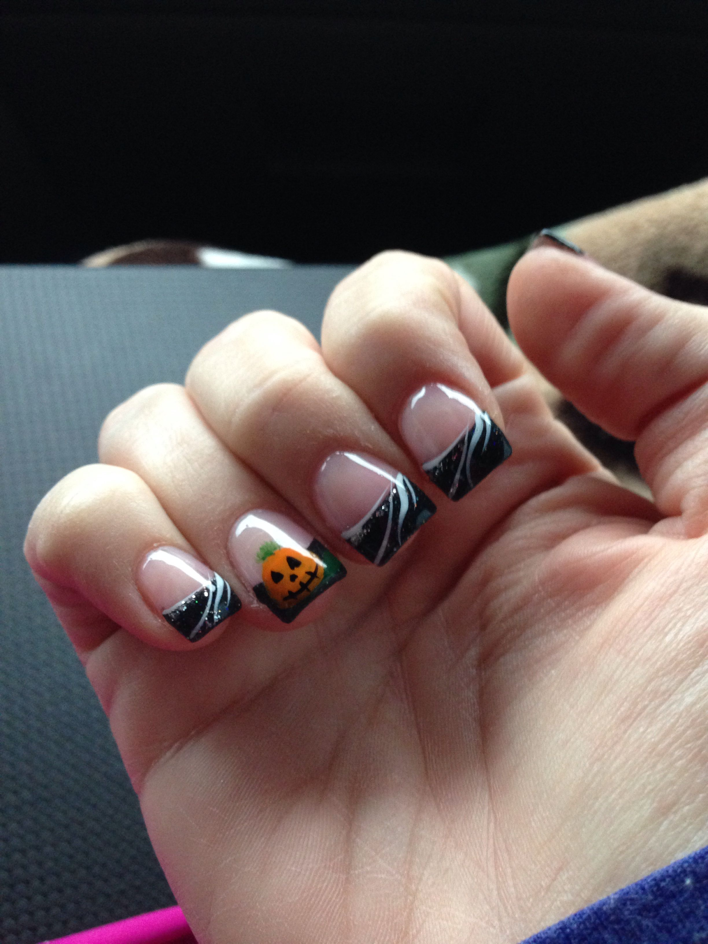 Halloween Nails French Tip Acrylic Nails French Tip Nail Designs Halloween Nails