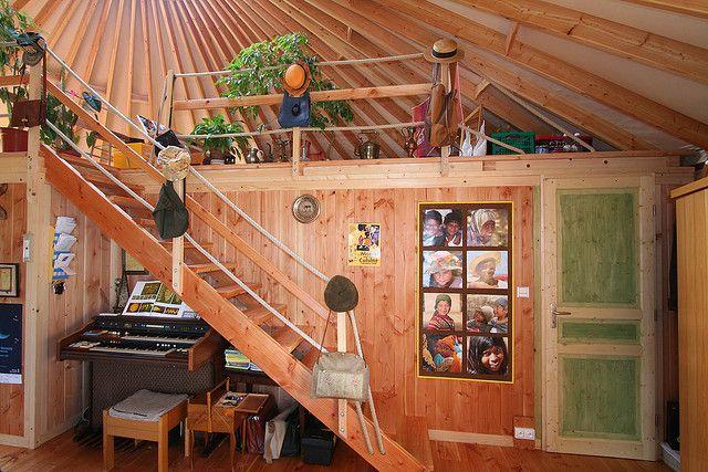 yourte d 39 habitation 030 by yourte contemporaine via flickr yourtes pinterest yourte. Black Bedroom Furniture Sets. Home Design Ideas