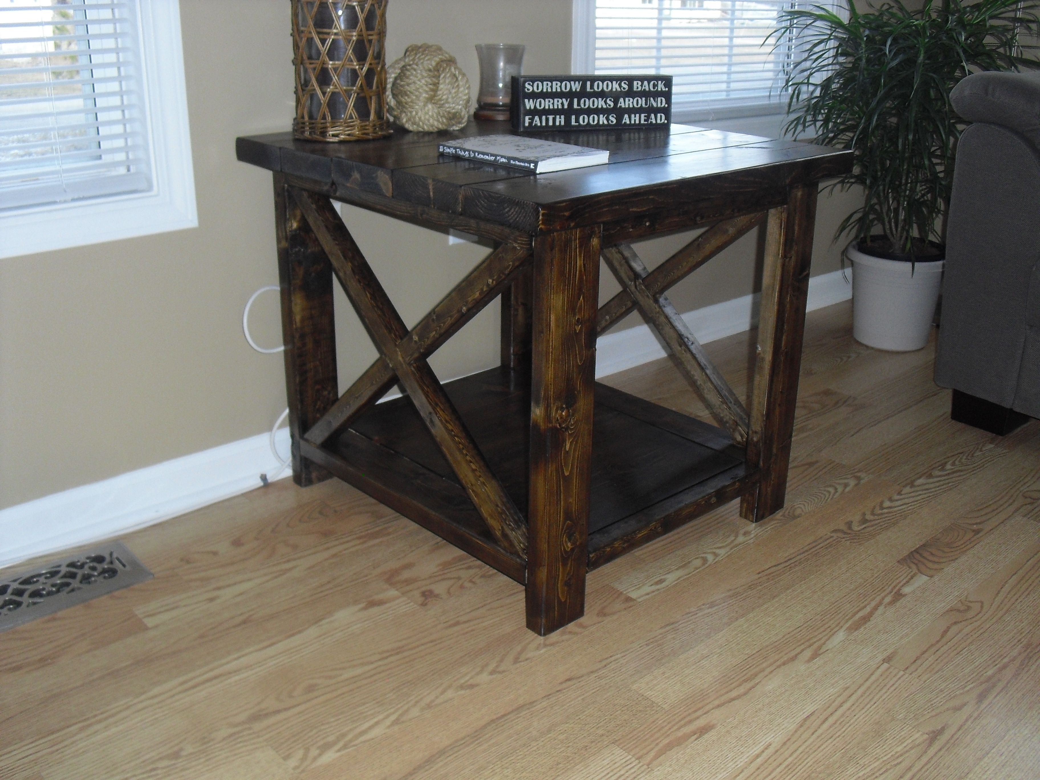 Ana white rustic x end table diy projects farmhouse end tables ana white rustic x end table diy projects solutioingenieria Gallery