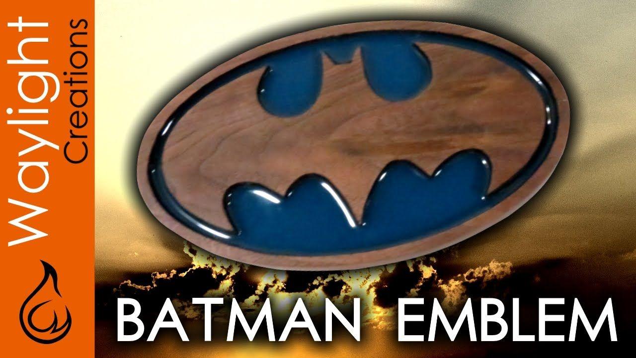 Make A Wood Batman Emblem - Justice League / DC #2 - Part 2 in our series of DC superhero emblems.