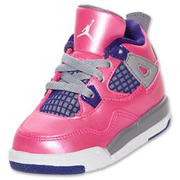 huge selection of 991f0 ca5b6 Girls' Toddler Air Jordan Retro 4 Basketball Shoes ...