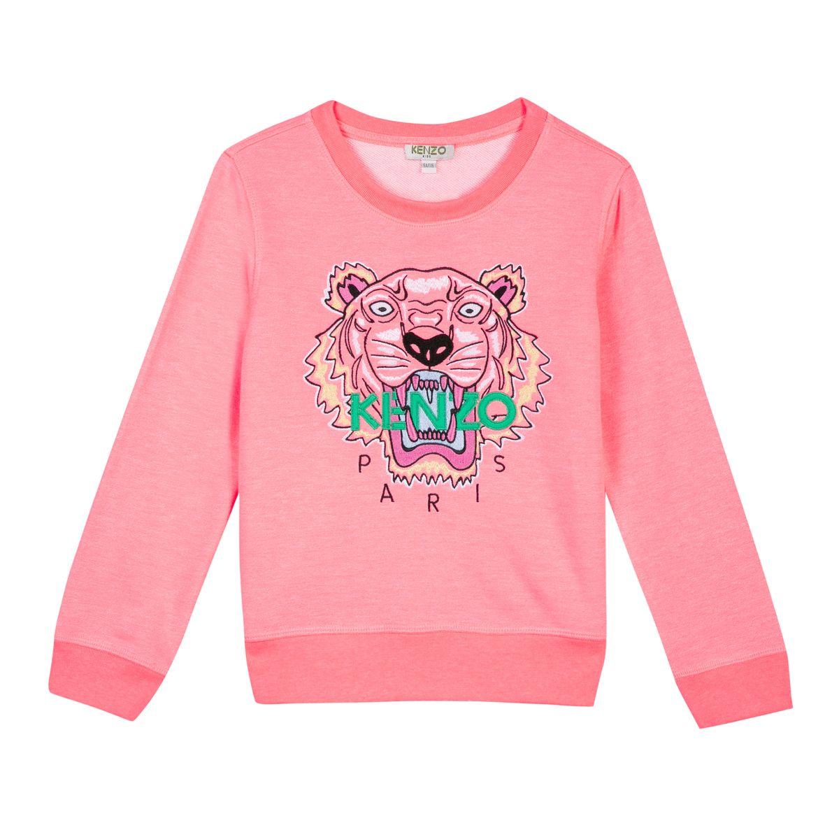 b21e7e41 Kenzo Neon Coral Tiger Sweatshirt KL15038 in 2019   KIDS   Kenzo ...