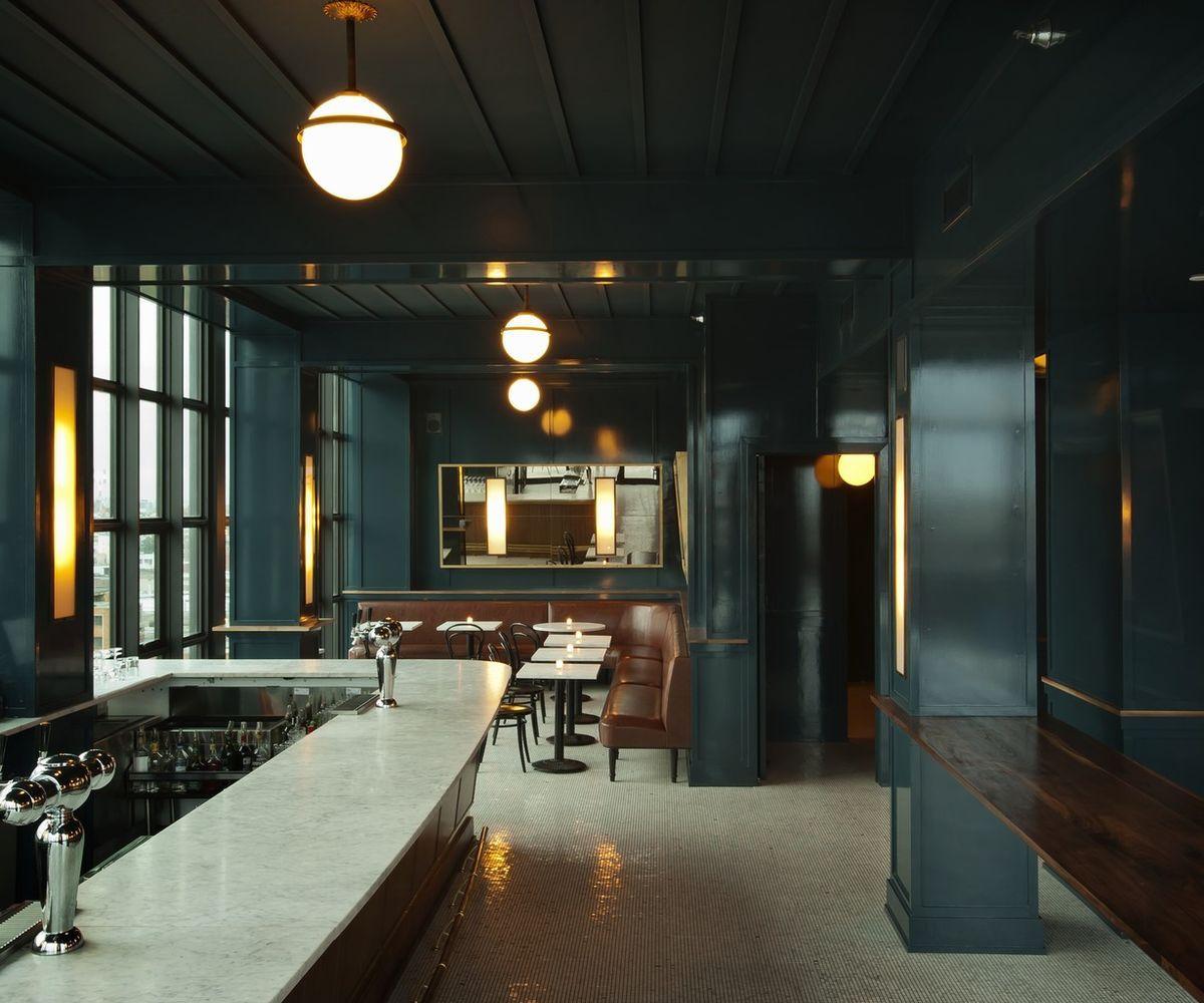 wythe hotel brooklyn new york indoor ceiling floor room lobby