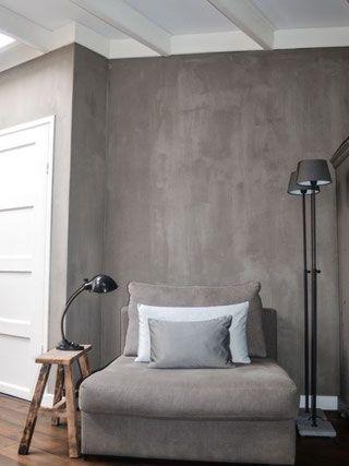 Beton - I love it - Grijs, Huiskamer en Muur