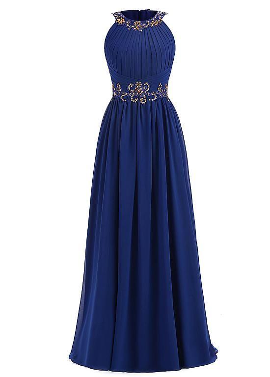 Wedding Dresses Ball Gown Elegant Chiffon Jewel Neckline Floor