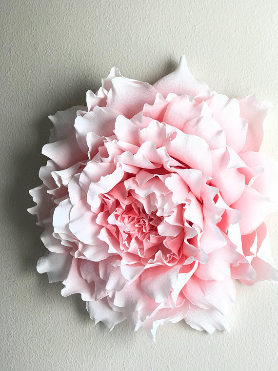 Giant Crepe Paper Peony Crepe Paper Wall Peony Nursery Wall Flowers