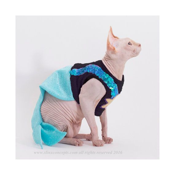 Costume for Pets Mermaid pet Costume Mermaid costume Halloween Costumes for Pets Sphynx Cat Clothes Costumes for Cats dog costume by SimplySphynx  sc 1 st  Pinterest & Costumes for Pets Mermaid cat costume pet costume Mermaid ...