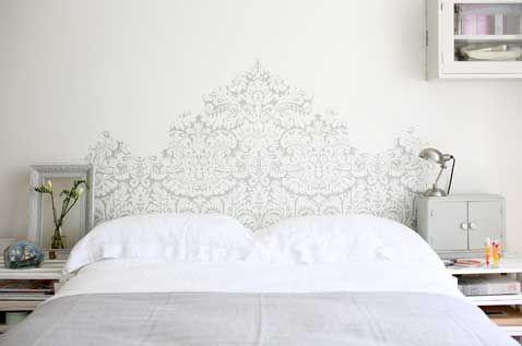 La tête de lit donne envie de bricoler créatif Pinterest