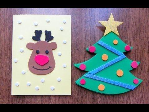 Como hacer tarjetas navide as con goma eva foami for Tarjetas de navidad hechas por ninos