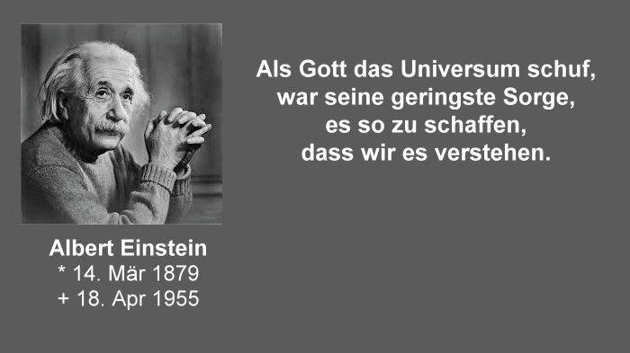 Albert Einstein Gott Und Das Universum Sprüche Einstein