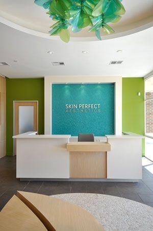 Behind Front Desk Clinic Interior Design Dental Office Design