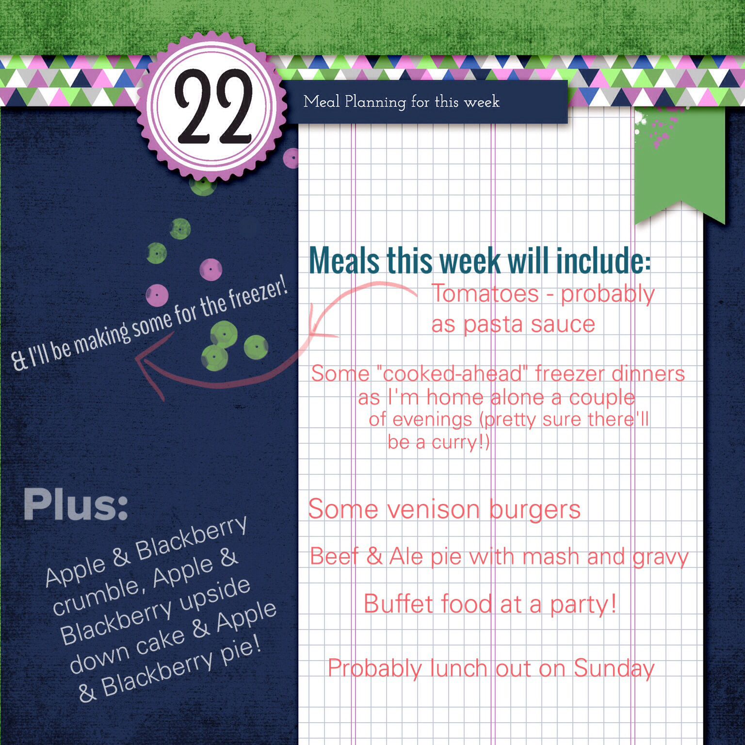 #30Lists meal planning for this week