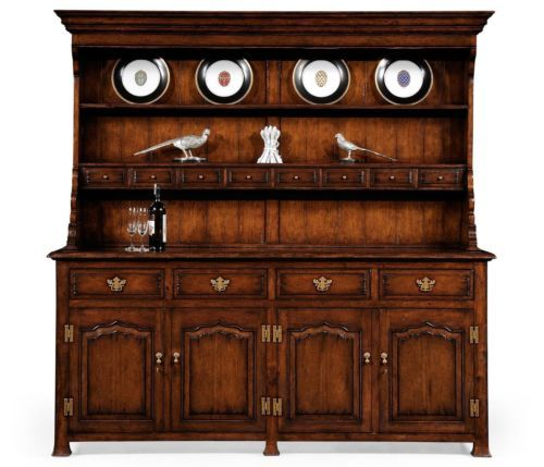 Dark Wood Welsh Dresser: New Jonathan Charles Buffet Country Farmhouse Welsh