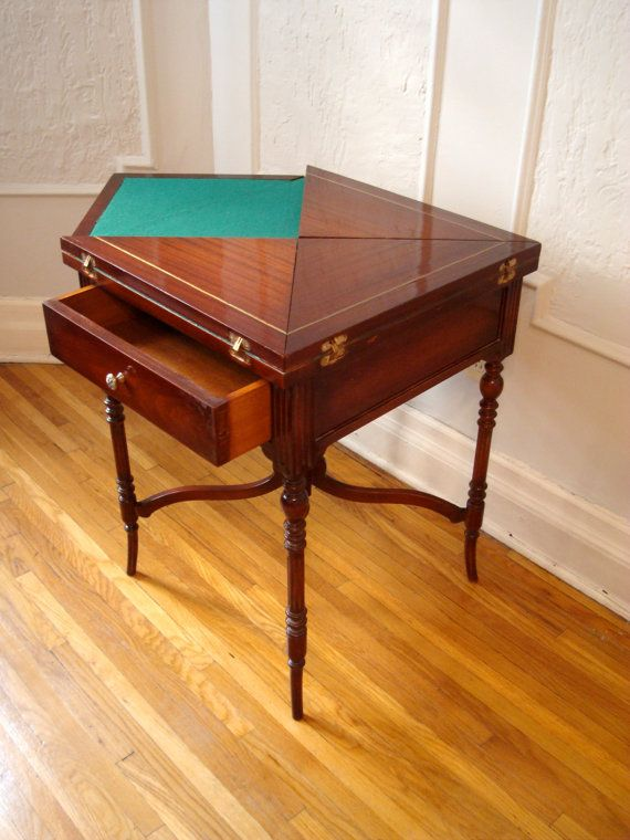 Vintage Folding Envelope Games Table Rare Table Games Board Game Table Table