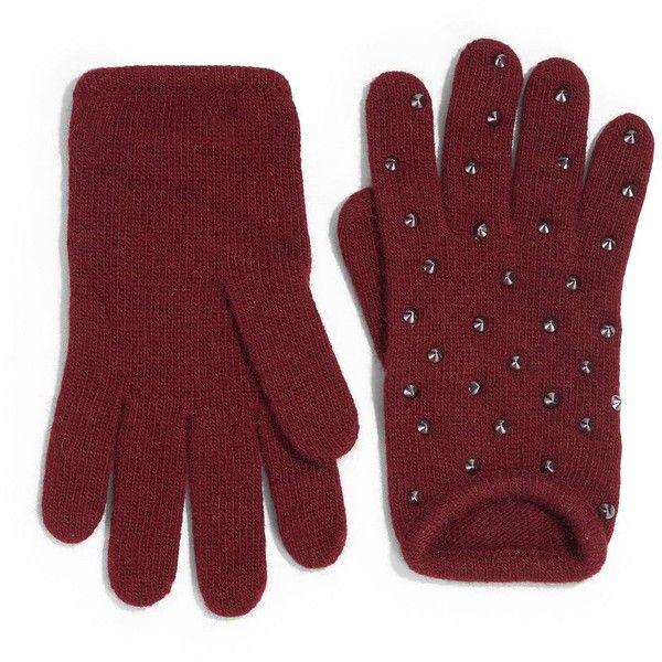 Portolano Studded Winter Gloves (£39) ❤ liked on Polyvore