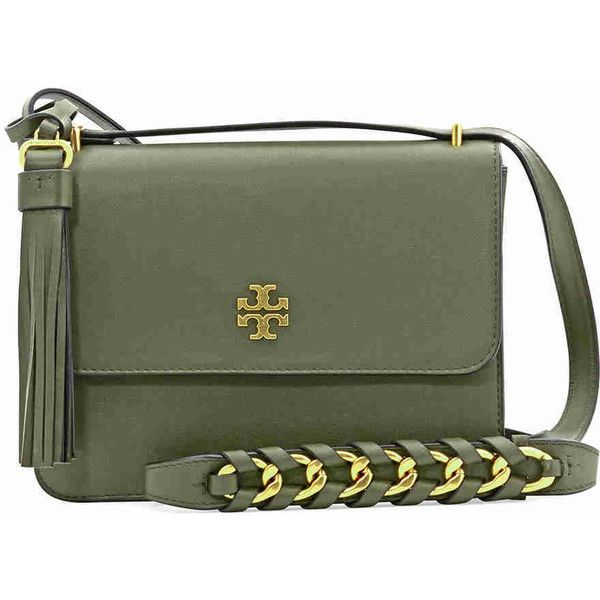7b69dae2cef Tory Burch Brooke Leather Shoulder Bag- Leccio (€310) ❤ liked on Polyvore  featuring bags