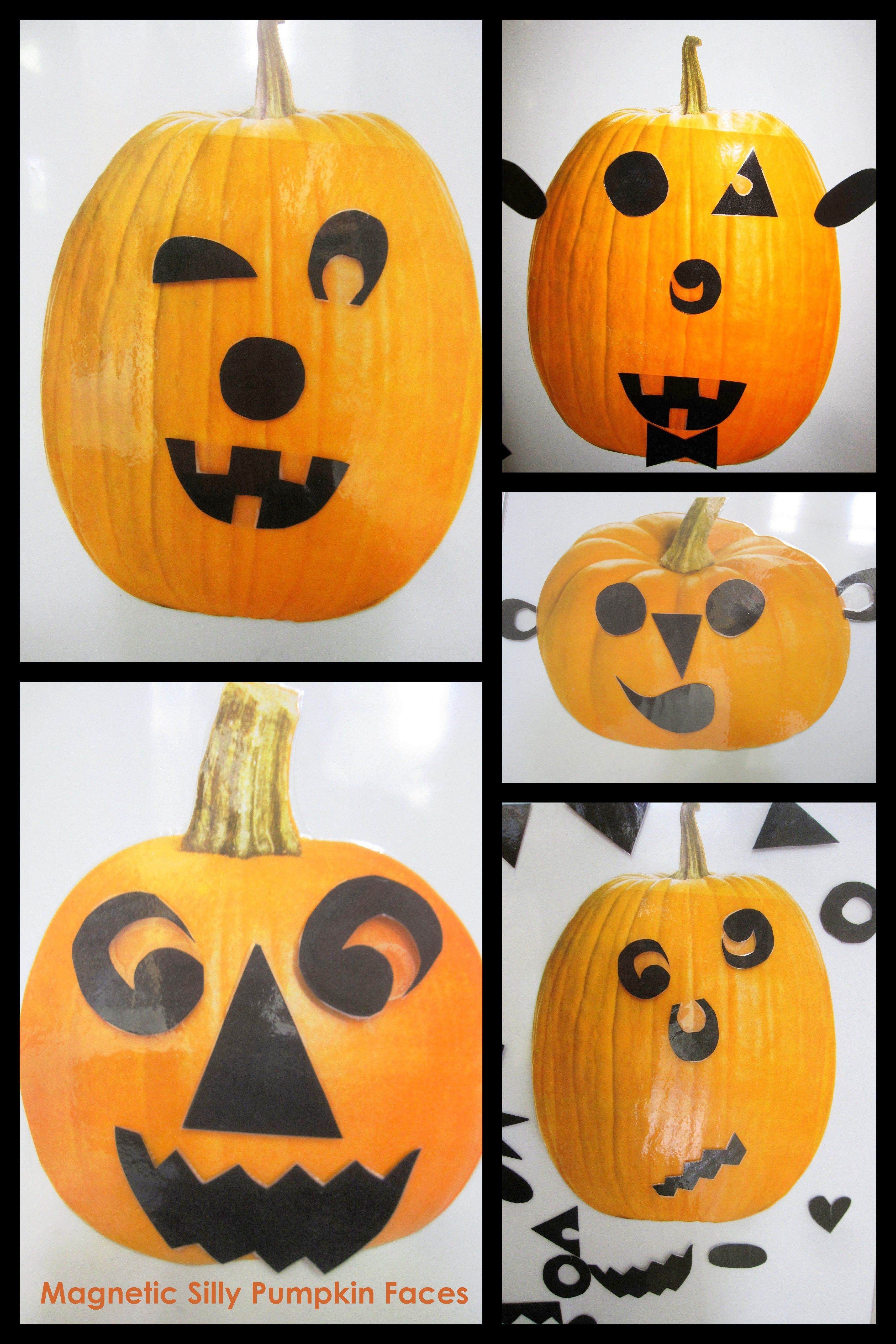 In The Art Studio Make Silly Faces For Jack O Lanterns On