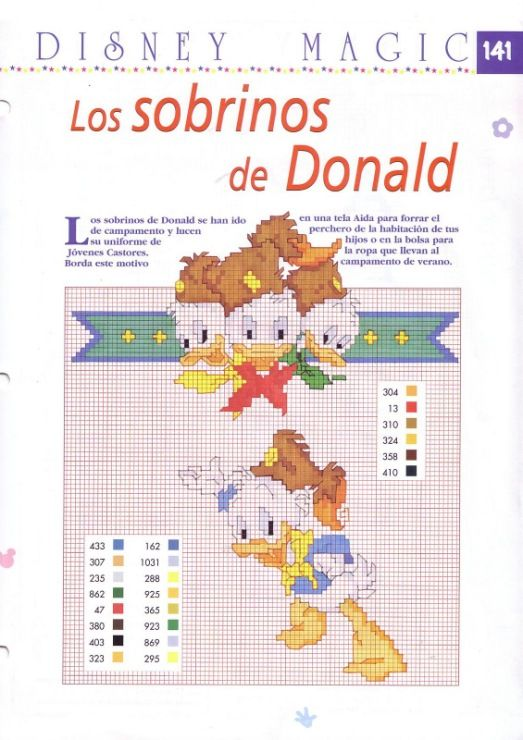 "Disney Magic #141 ~ Donald Duck's nephews ""Huey, Dewey, and Louie Duck"""