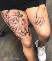Photo of 39 idées de conceptions de tatouage de jambe inspirantes pour les femmes – Grandes – #Leg #Desi …