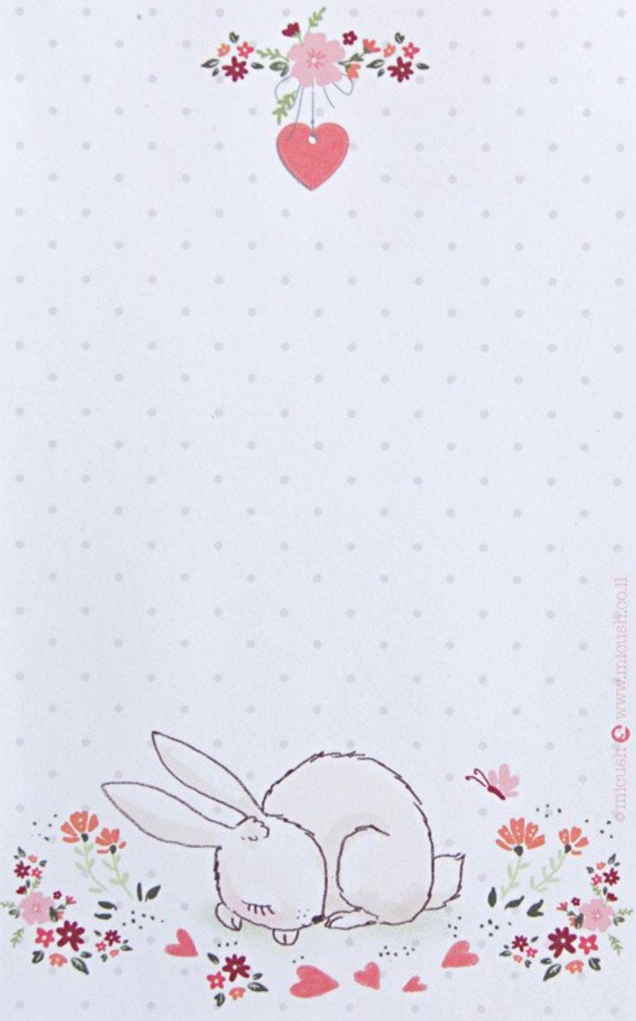 Bunny Memo Paper