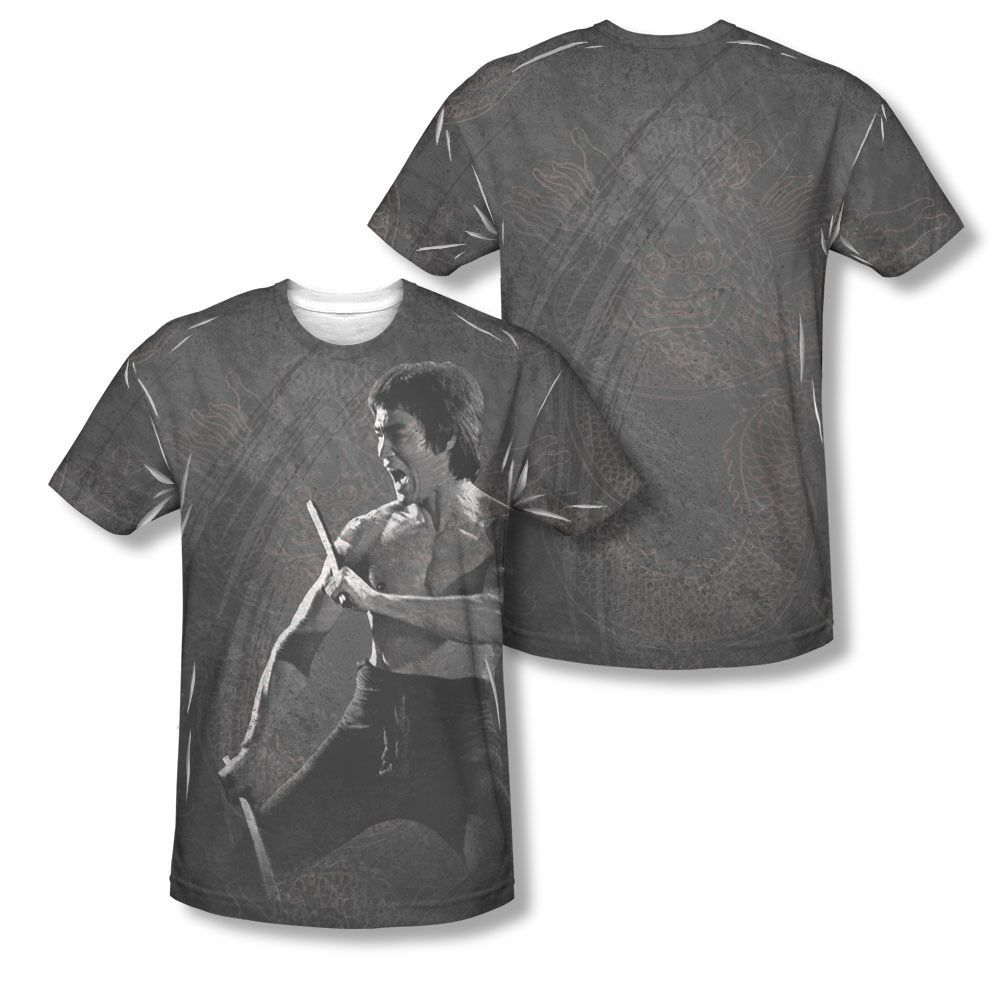 Bruce Lee Expectations Allover Sublimation Licensed Adult T-Shirt