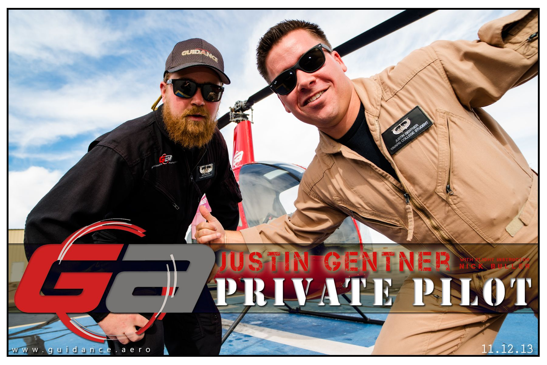 A New Helicopter Pilot! www.guidance.aero #helicopter #pilot