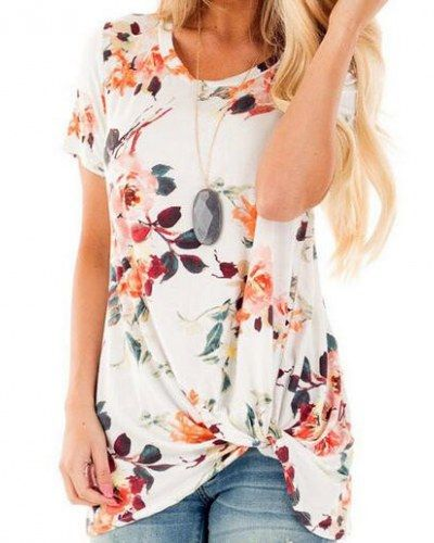 d7746eaa5ba Dokotoo Womens Summer Sexy Fashion Floral Tops and Blouses for Juniors  White Medium