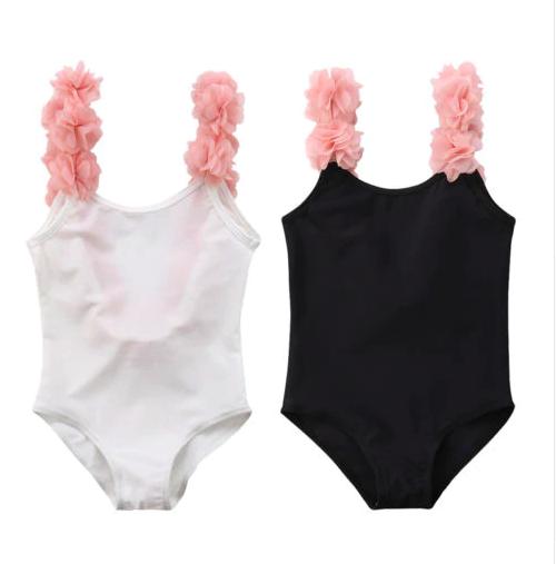 Baby Girl One-Piece Swimsuit Toddler Kids Ruffle Bathing Suit Backless Swimwear