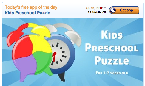 FREE Kids Preschool Puzzle App for Android! Awesome reviews!