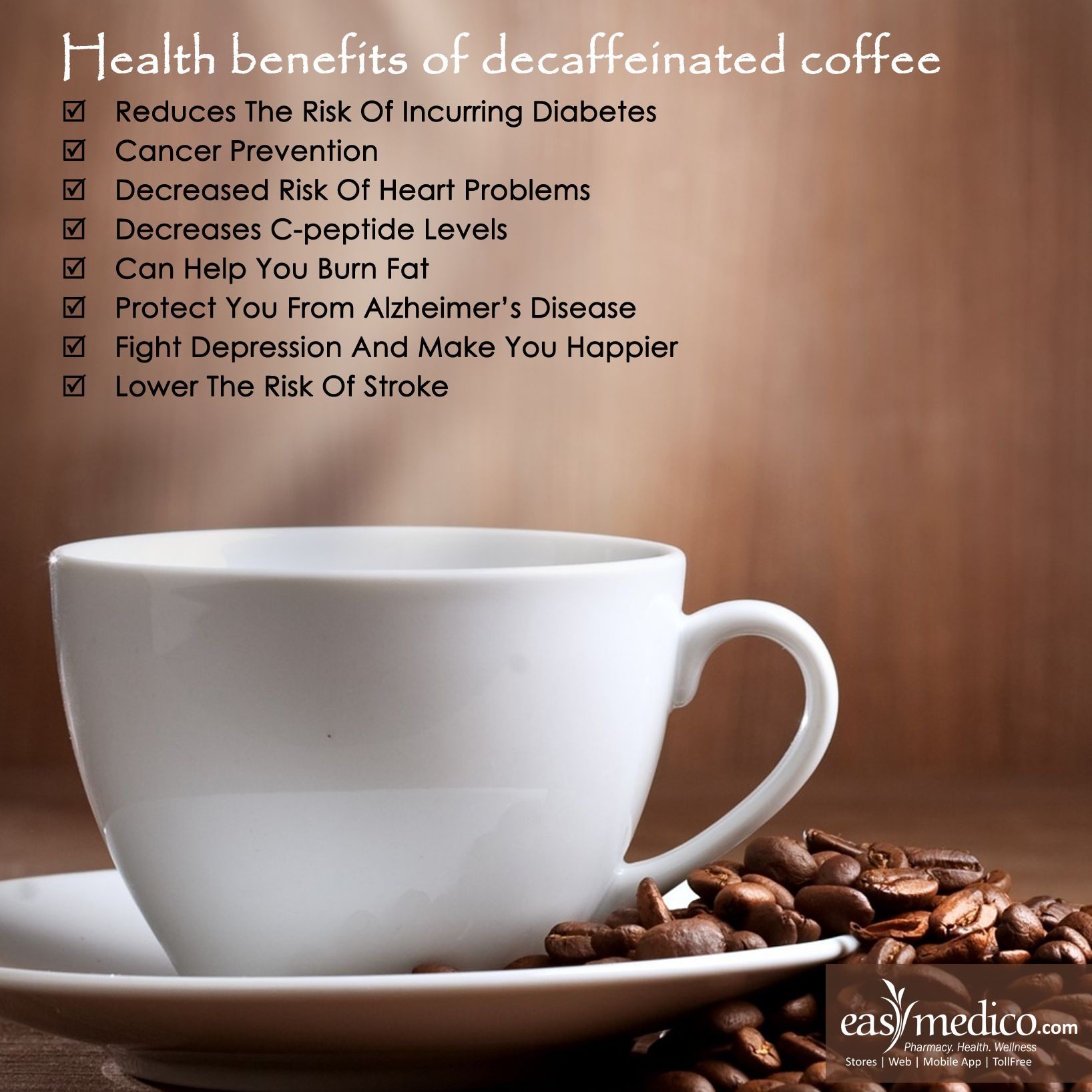 Emarogyabhava Add Decaffeinated Coffee To Your Daily Diet To Boost Your Health Healthcare Healthtips Cancer Prevention Daily Health Tips Health Tips