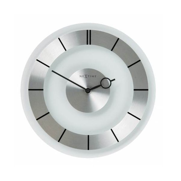 2789   Retro Has A Nice Classic 60 Design Which Fits Any Interior. The  Combination Of Glass And Stainless Steel Makes This Clock An Evergreen.