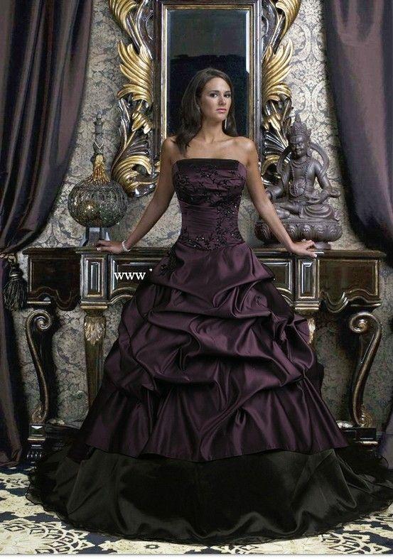 Dark Plum Strapless Dress