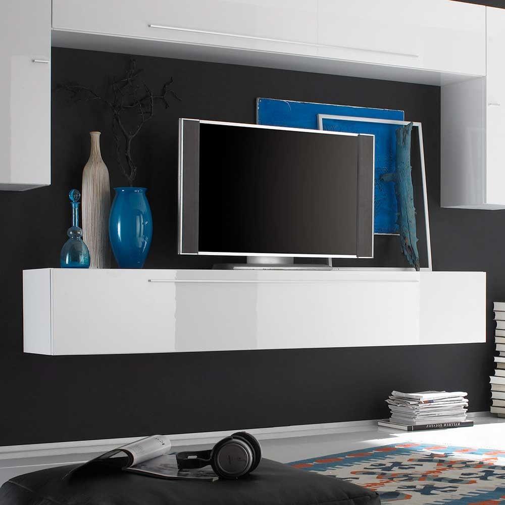 Tv bank weiß hängend  Tolle tv möbel weiß hochglanz hängend | Deutsche Deko | Pinterest ...
