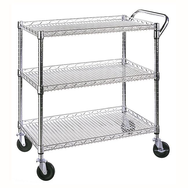 This three shelf utility cart is a perfect accessory for any ...