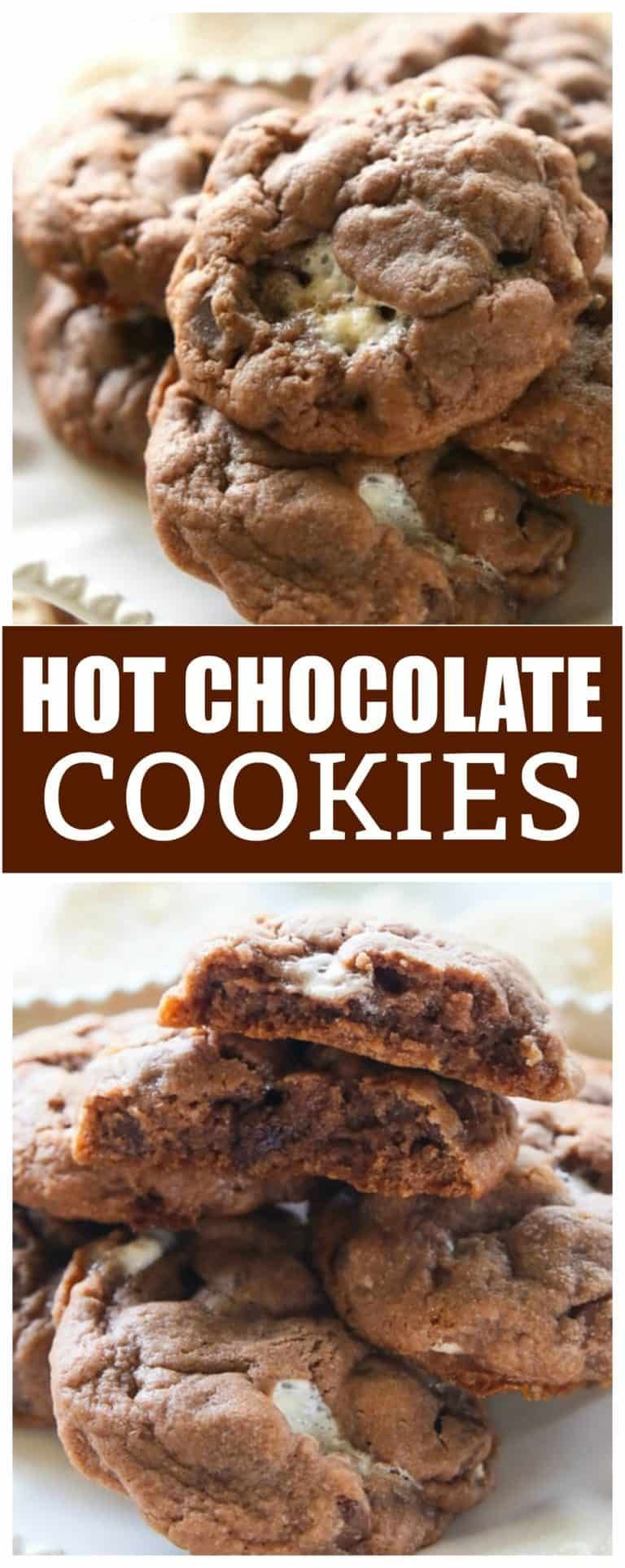 Hot Chocolate Cookies Recipe - The Girl Who Ate Everything