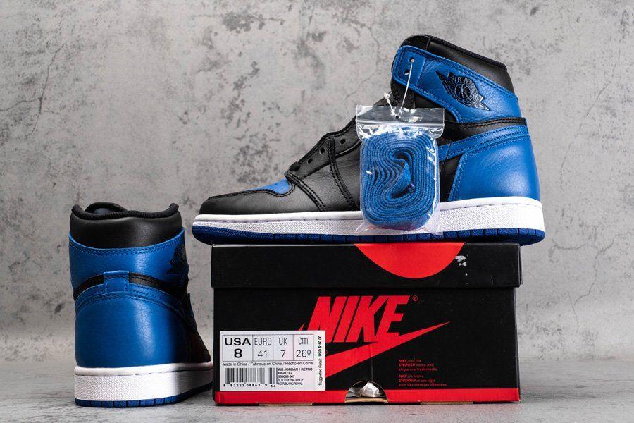 2017 Nike Air Jordan 1 Nike Retro High Og Royal Blue 555088 007 Air Jordan 1 Retro High Og Royal 2017 In 2020 Air Jordans Jordan 1 Jordan 1 Retro High