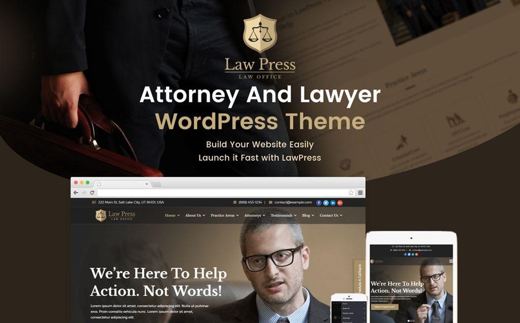 Lawpress Lawyer Attorney Wordpress Theme 65449 Wordpress