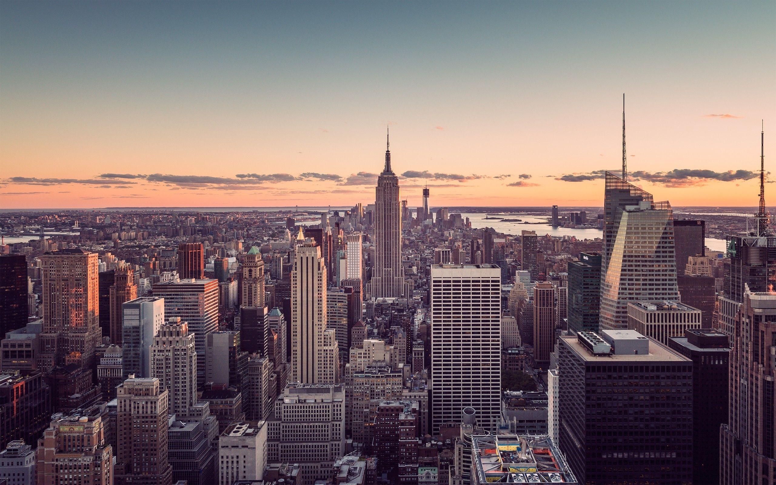 Sunset City New York Wallpaper Free Background Desktop Images