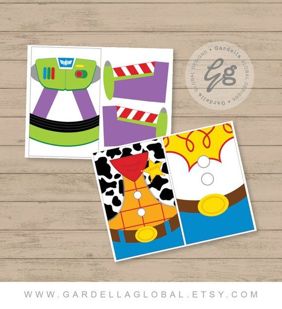 Toy Story Gift Bag Fronts Birthday Party Theme