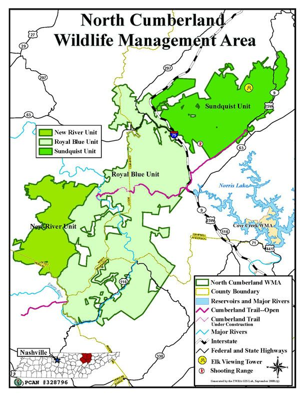 Map of North Cumberland Plateau | My Memories of my Life